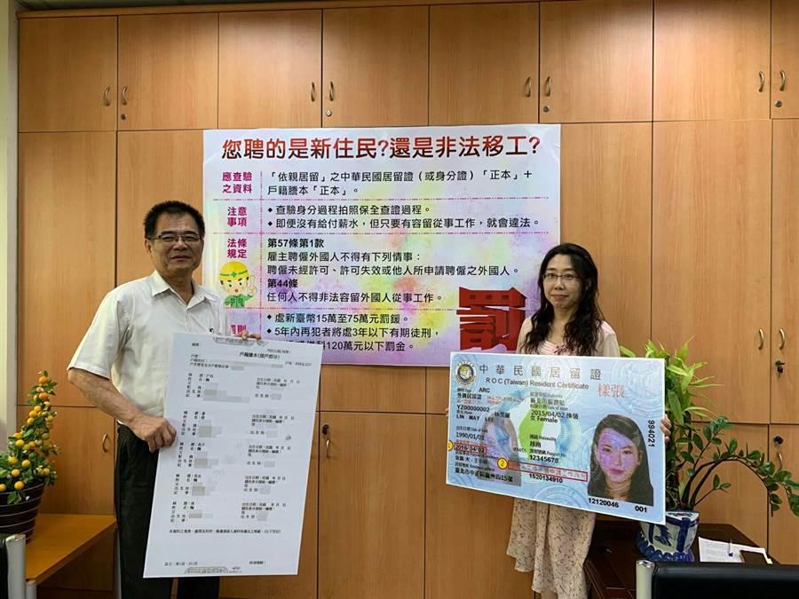 部分服務業與小吃業者因為員工難找,有時會聘用外籍移工,但若未確實查證身分,如果是逃逸移工,遭查獲後將面臨15萬到75萬的罰鍰。(台南市勞工局提供)