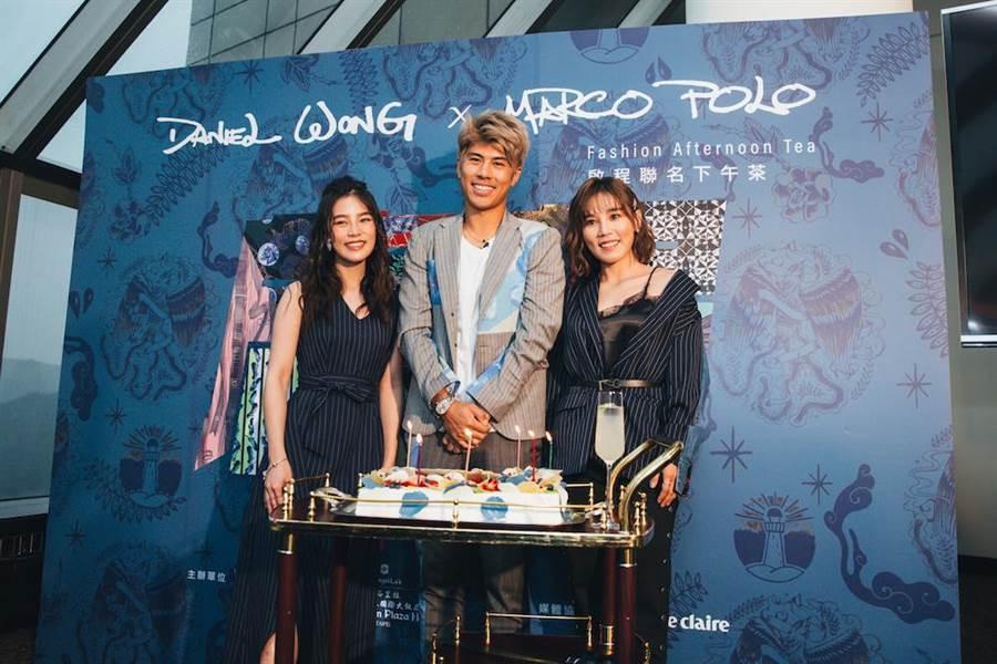 李佳歡(左起)Daniel與李佳薇,一同替品牌聯名下午茶站台。(品牌提供)