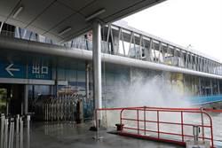 浪高1層樓水進售票處 東港琉球航線下午停駛