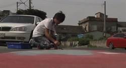 馬路作畫遭批評 繪畫師:非常難過