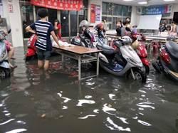鶯歌豪雨多處淹水 民代籲儘速完成捷運共構排水箱涵