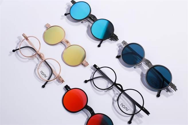 ROAV研發全球最輕薄外掛式折疊太陽眼鏡FUSION系列。(有橙國際提供)