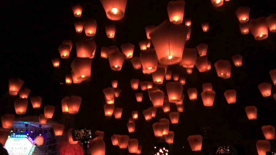 新北市平溪天燈馳名國際,卻屢傳公安意外。(譚宇哲攝)