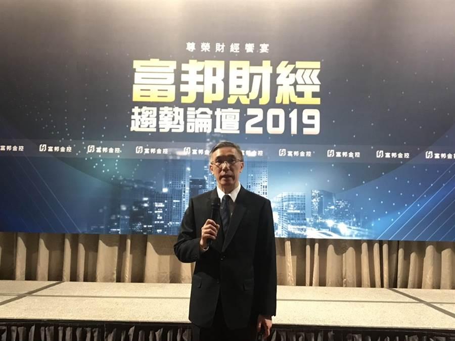 富邦金控首席經濟學家羅瑋對今年下半年全球經濟前景看法,是「極」不樂觀。(洪凱音攝影)