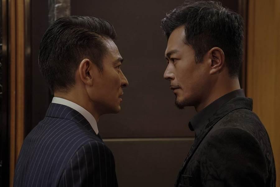 劉德華(左)與古天樂(右)在新片《掃毒2 天地對決》精彩對戲廝殺,劉德華也宣布將於近期來台宣傳該片。(圖/華映娛樂提供)