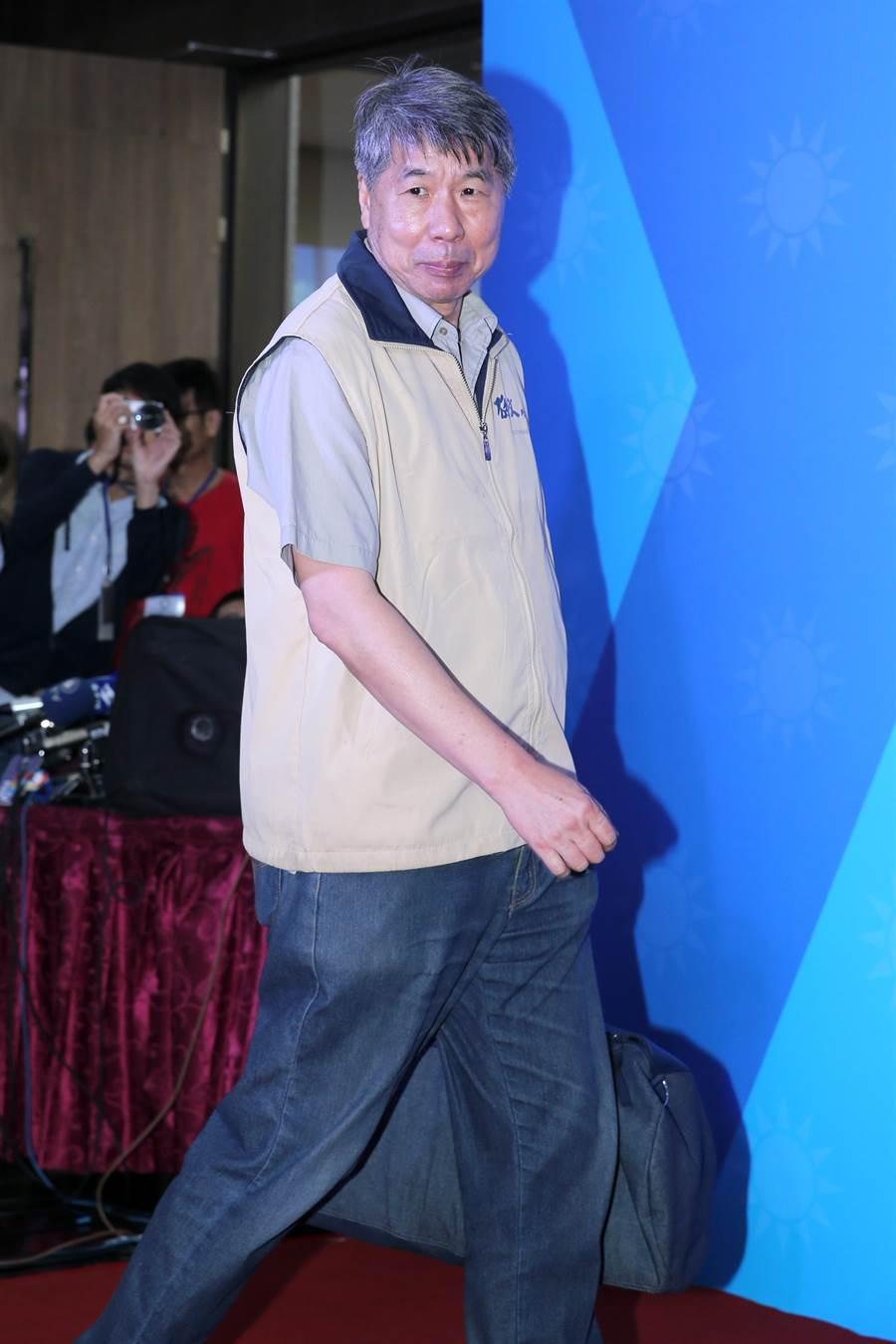 孫文學校校長張亞中3日出席國民黨總統初選第3場國政願景發表會。(黃世麒攝)