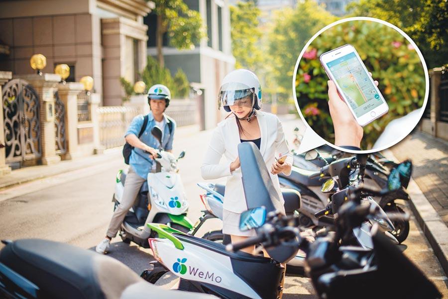 WeMo Scooter新推出短租吃到飽方案。(WeMo Scooter提供)