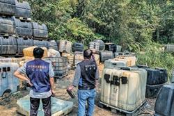 憂化學廢液汙染擴大 竹縣環局緊急清除