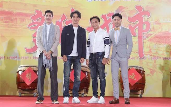王凱(左起)、馬俊麟、許仁杰、潘柏希。