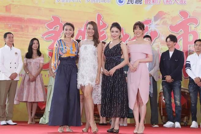 侯怡君(左起)、張䕒心、德馨、廖苡喬。