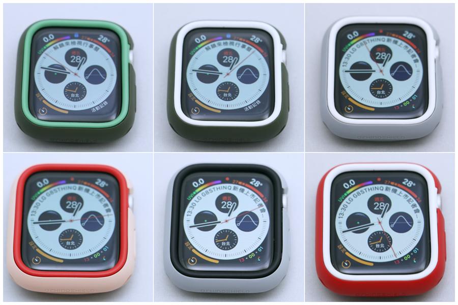 Apple Watch(Series 4)犀牛盾Apple Watch CrashGuard NX保護殼更換飾條後的實搭圖。(圖/黃慧雯攝)