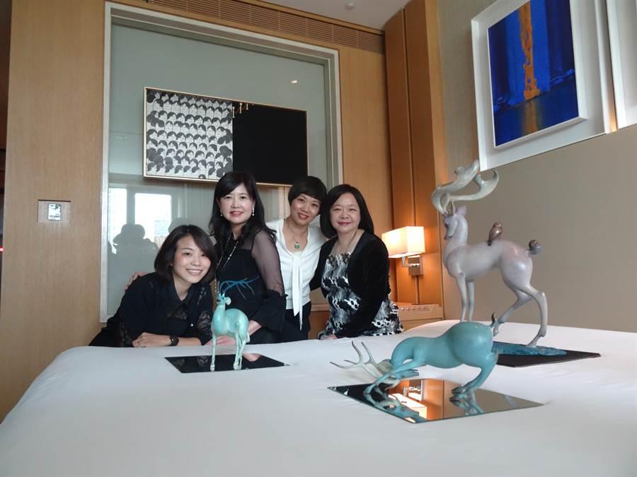 中華民國畫廊協會4日在台中日月千禧酒店舉辦台中藝博會記者會,也率先公開部分展間。(馮惠宜攝)