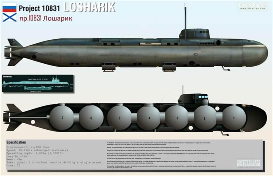 專案計劃編號10831的AS-12深潛器艇身結構示意圖。(圖/推特@Flroach)