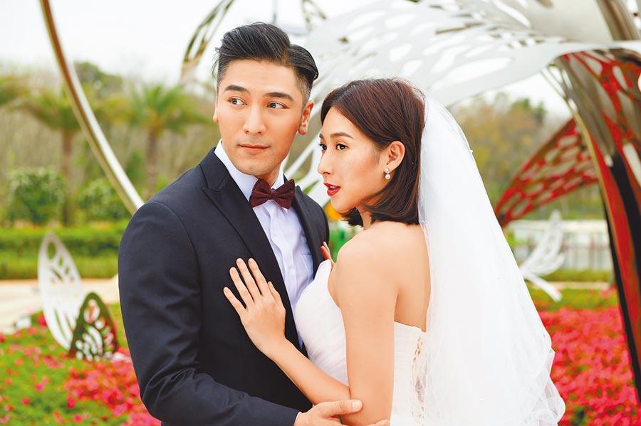 羅平(左)與楊晴之前為《女力報到》劇情需要前往台中拍婚紗照。