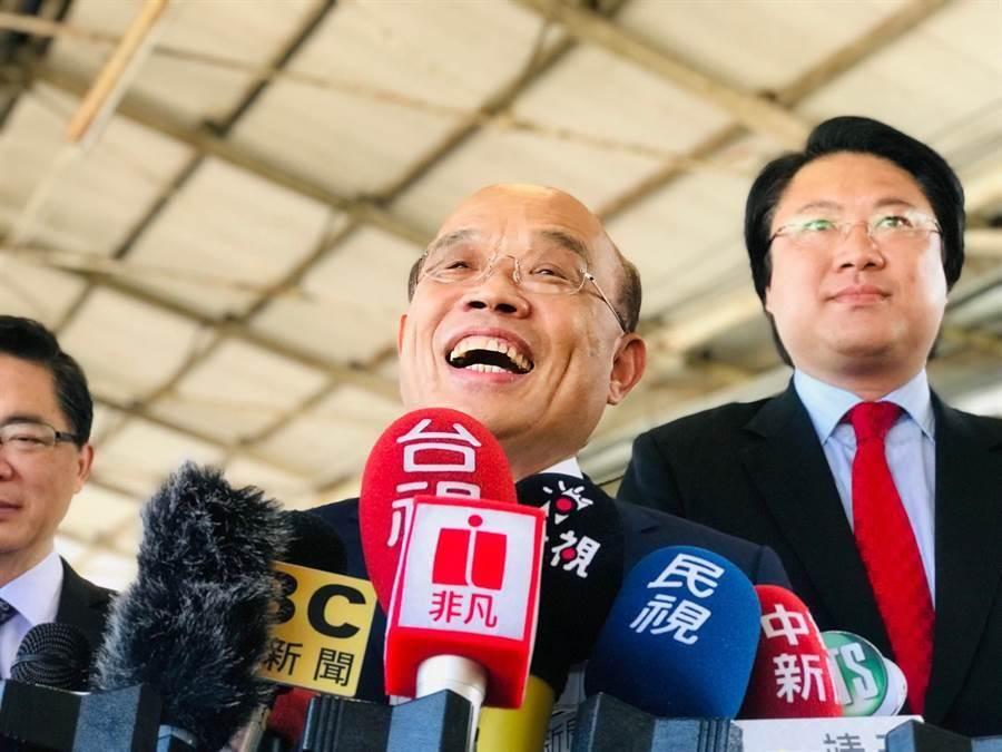 行政院长苏贞昌。(张颖齐摄)