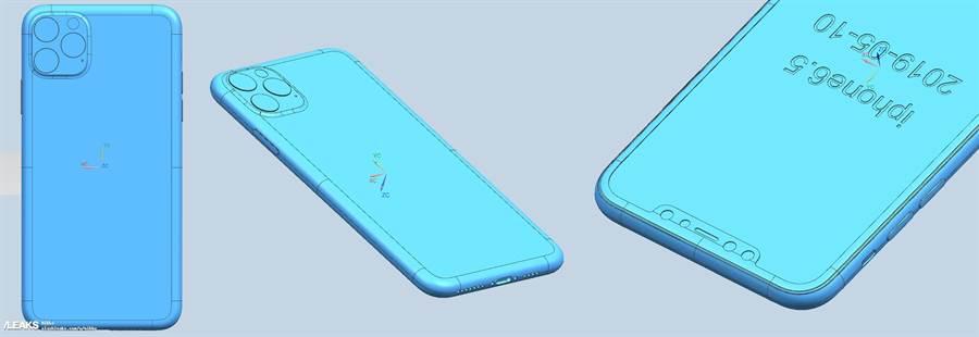 Slashleaks 网站分享的新一代 iPhone XS Max CAD设计图。(图/翻摄Slashleaks)