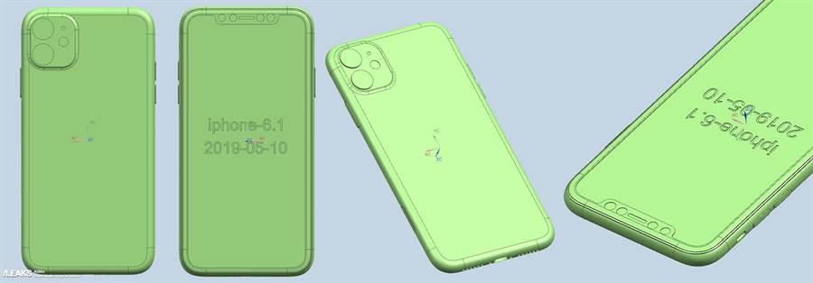 Slashleaks 網站分享的新一代 iPhone XR CAD設計圖。(圖/翻攝Slashleaks)