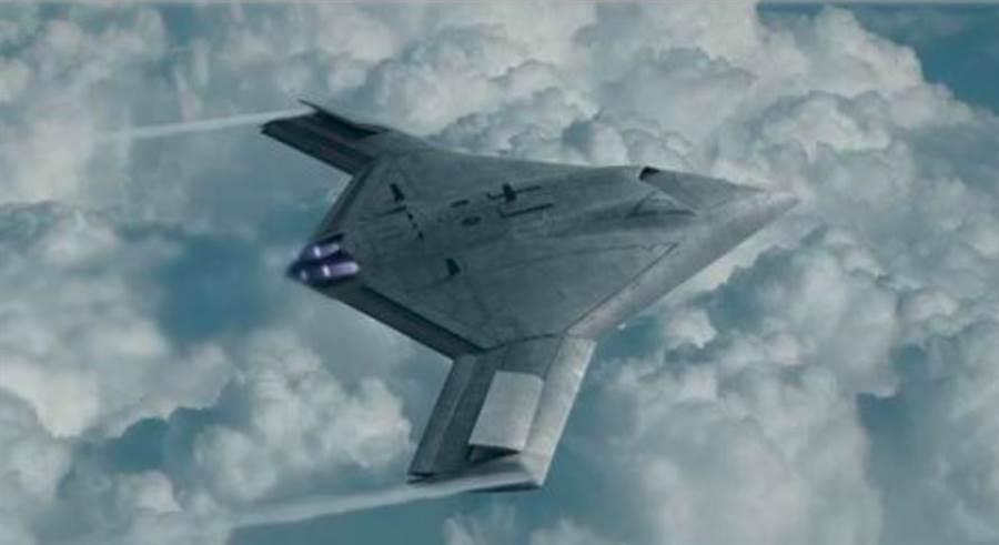 《奮飛》紀錄片尾出現的艦載無人機示畫面。(環球時報)