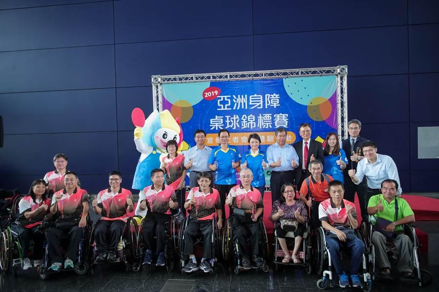 進軍帕運前哨戰!「2019年亞洲身心障礙桌球錦標賽」23日起將在靜宜大學開賽。(盧金足攝)