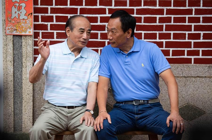 對於國民黨執意辦初選,王金平語帶酸意表示「為國民黨慶幸,也樂觀其成。(袁庭堯攝)