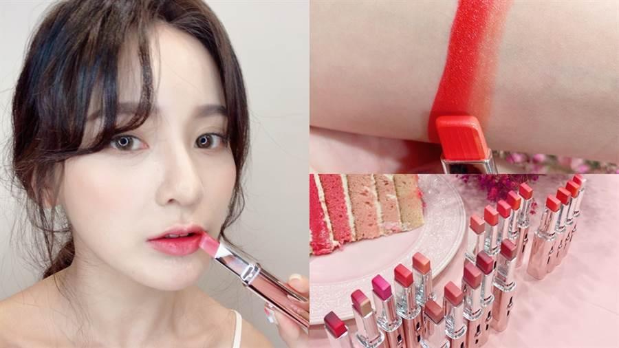 蘭芝推出六色漸層唇膏,一筆就能打造好看的漸層唇妝。(圖/邱映慈攝影)