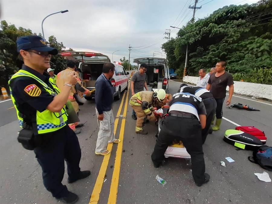 台20線南化路段發生嚴重車禍。(劉秀芬翻攝)