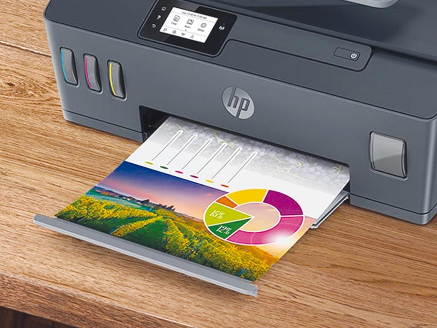 HP針對SOHO族推出Smart Tank 515/615連續供墨系列印表機,機身小、不占空間。圖/業者提供