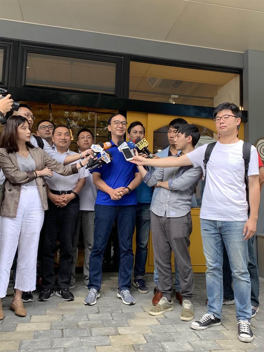 前新北市長朱立倫今(6日)表示,蔡總統不要走火入魔,不要動不動用「國家安全」扣帽子,影響台灣民主價值。(葉書宏翻攝)