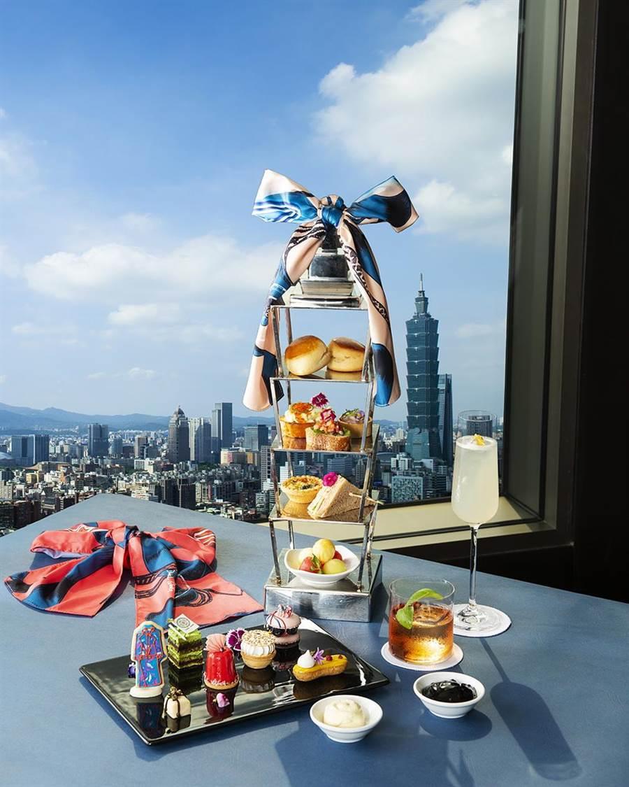 香格里拉台北遠東國際大飯店馬可波羅酒廊,推出期間限定 《Marco Polo X Daniel Wong 啟程100 聯名下午茶》,非常適合「餵相機」。(圖/台北遠東國際大飯店)