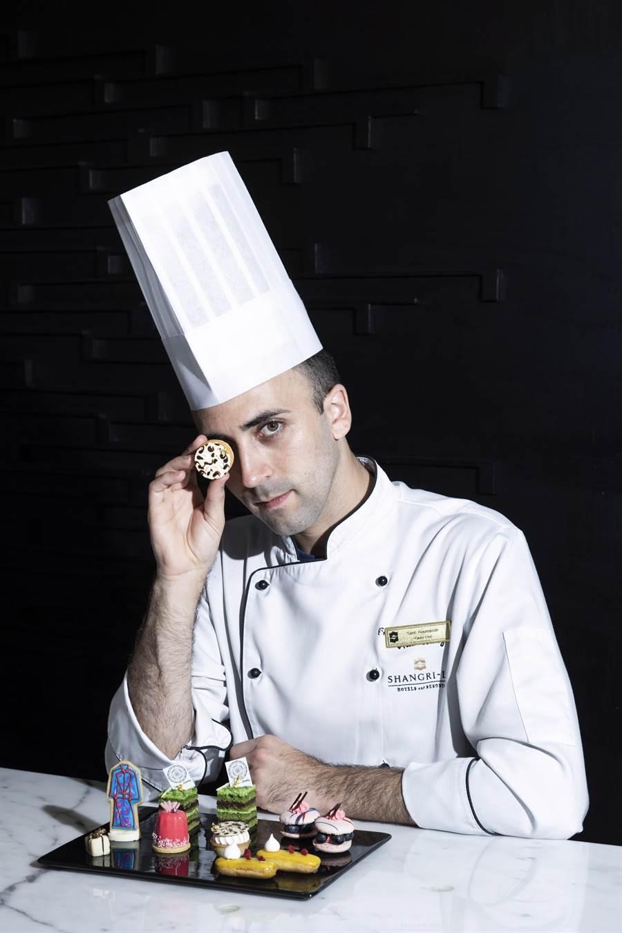 香格里拉台北遠東國際大飯店法籍甜點主廚Yann Roumanille,以巧思創意與精湛廚技演繹吸睛聯名下午茶。(圖/台北遠東國際大飯店)
