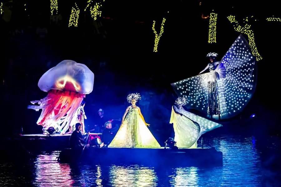 2019宜蘭國際童玩藝術節邀請到義大利科羅娜水上劇場CORONA THEATER現場精彩演出。(宜蘭縣政府提供)