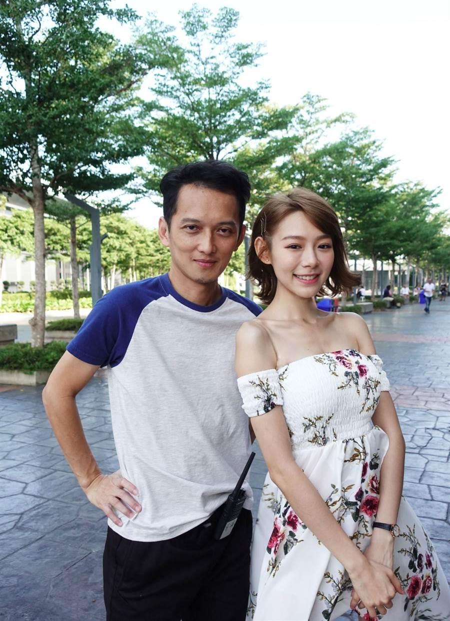林明禎(右)與《新年泰瘋狂》戴敏非導演合影。(種子音樂提供)