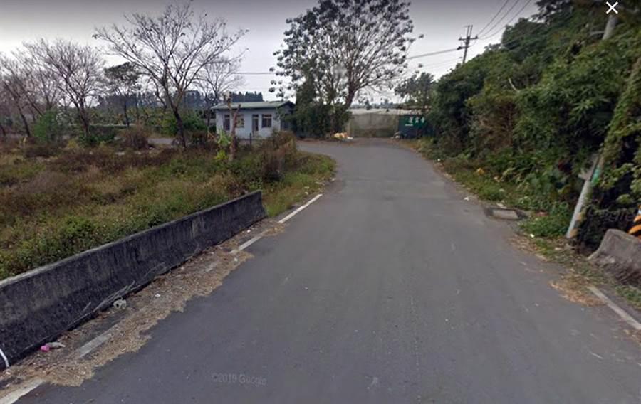 南華大橋旁堤防道路發生駭人聽聞情殺案,讓純樸村莊議論紛紛。(翻攝google地圖)