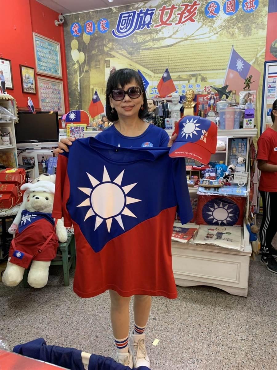 老闆娘楊玉梅表示,前幾年生意比較慘淡,去年韓國瑜選舉時轉好,這幾天搭上觀光日,營業額比平時多兩、三成。(郭建伸攝)