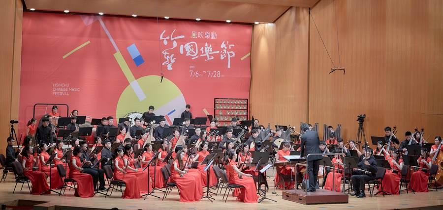 「2019竹塹國樂節」6日正式開幕,首場音樂饗宴於文化局演藝廳演出,4首經典國樂曲讓民眾聽得如癡如醉。(陳育賢攝)