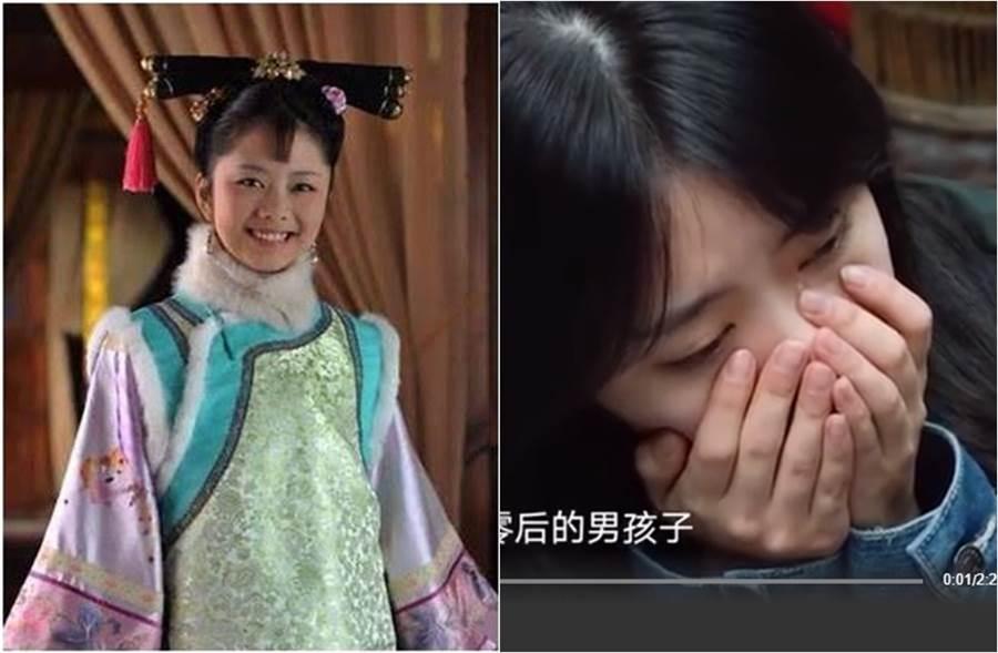 譚松韻在節目提起車禍過世母親落淚。(圖/翻攝自微博;翻攝自秒拍)