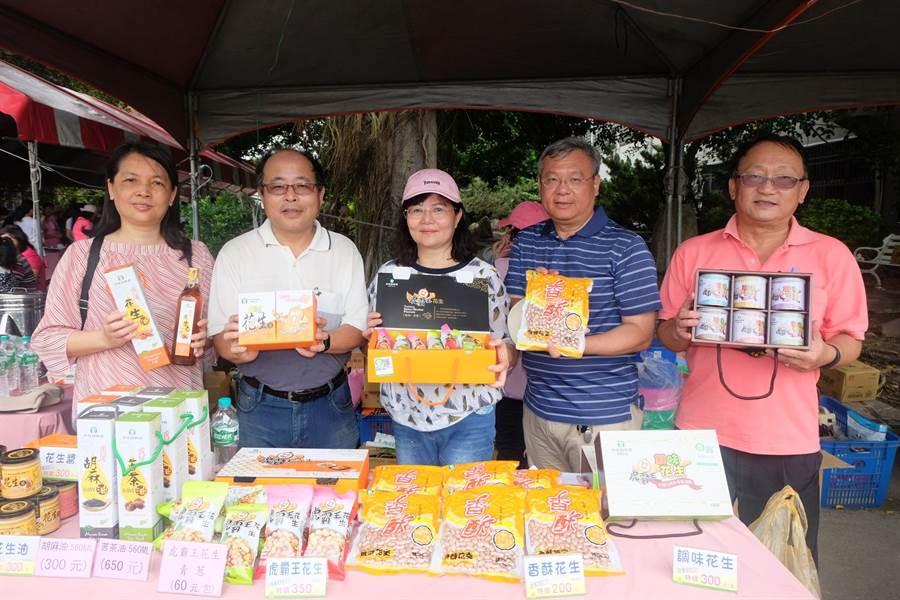 虎尾鎮農會發表「虎霸王花生系列產品」,推廣雙認證優質花生。(張朝欣攝)