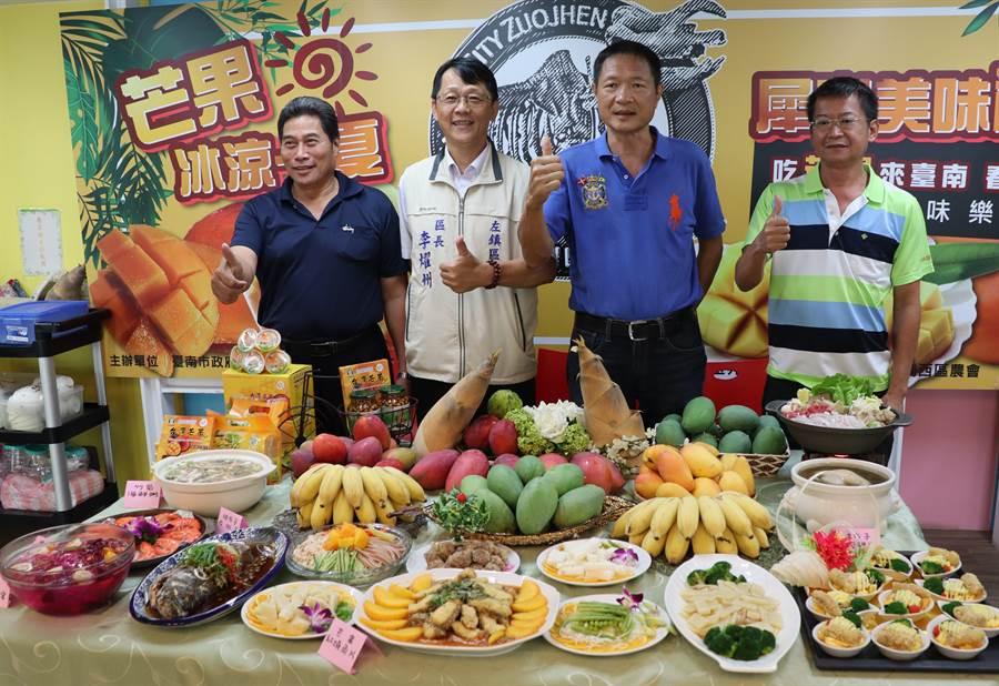 左鎮區農會每年芒果節活動推出的風味餐辦桌是一大特色,今年7月13日的「樹蔭下ㄟ風味餐」,每桌5500元,即日起開放訂位。(劉秀芬攝)