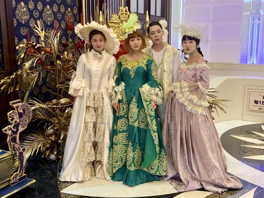 變身王子公主遊城堡,體驗歐洲貴族生活。(廖志晃攝)