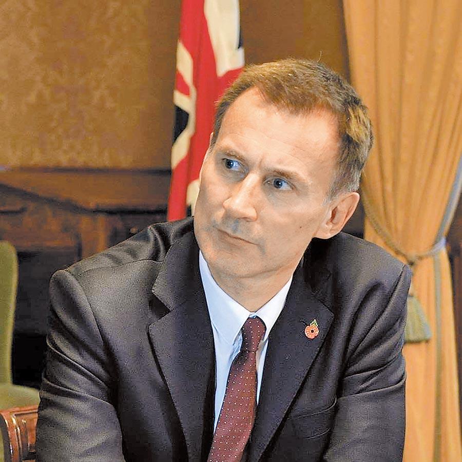 英國外交大臣亨特。(取自Jeremy Hunt臉書)