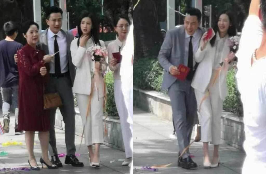 刘恺威被目击牵神秘妙龄女到民政局领证。(取材自微博)