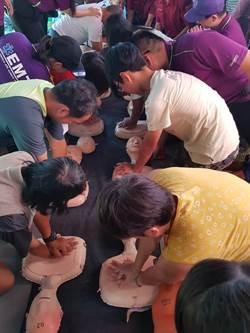 桃市消防三大隊宣導民眾齊學CPR