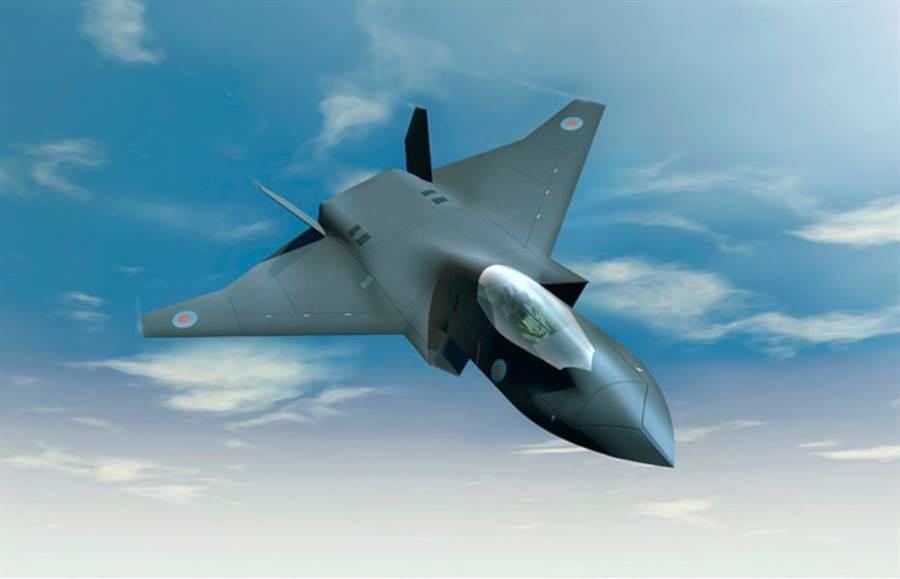 英國第6代戰機「暴風」(Tempest)示意圖。(BAE Systems)