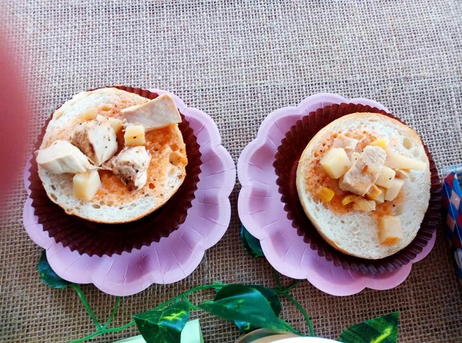 雲林縣古坑鄉竹筍節音樂野餐會,最特別的是筍漢堡。(許素惠攝)