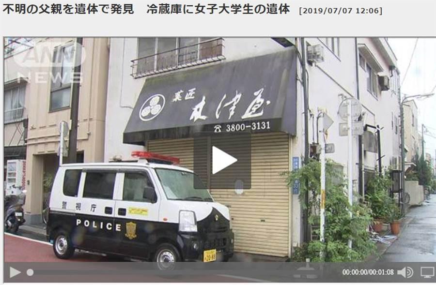 女大生遭藏屍和菓子店冰箱,兇手疑為女大生父親。(照片來源:截自ANNnews網頁)