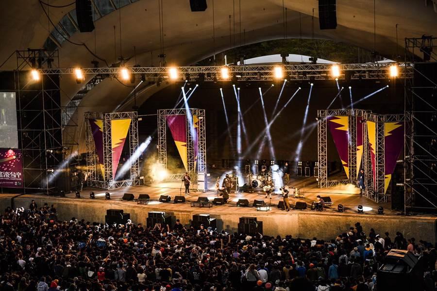「2019搖滾台中」邀請徵選比賽獲勝者演出,還邀請近60組國內外樂團演出。(圖/台中市府提供)