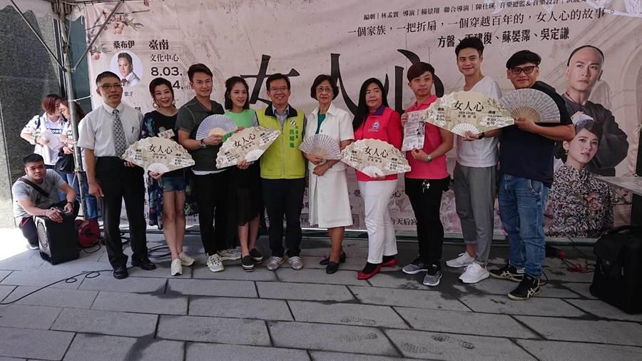 台劇強勢出擊,本土劇演員擔綱的台語音樂劇8月將在台南市立文化中心演出。(程炳璋攝)