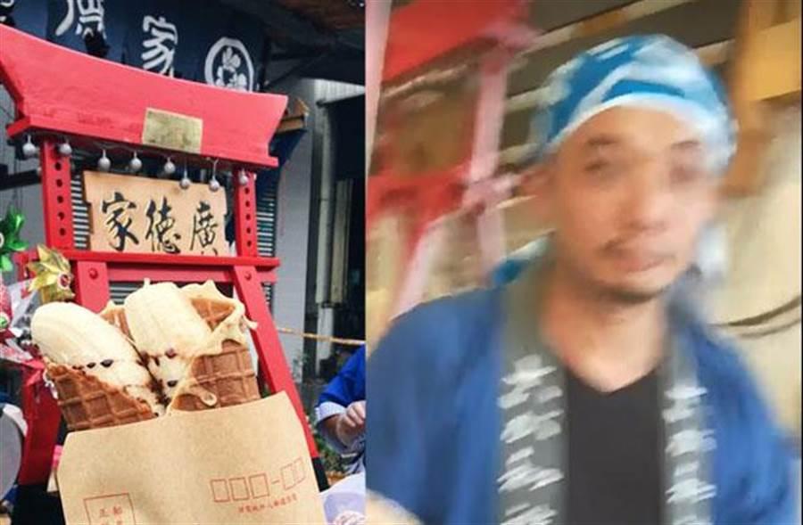 廣德家「黑韓」坑賣千元香蕉煎餅,不開發票逃漏稅逮個正著。(圖/擷自《罷免高雄市議員黃捷》粉絲專頁)