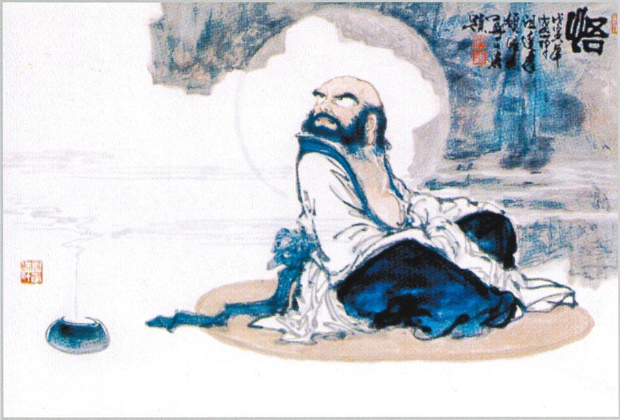 鄭正慶,《悟》,120×70cm,1998年。 照片提供鄭正慶
