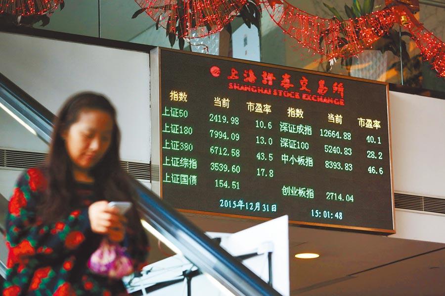 外國公司在大陸上市,是下一步股票市場開放的方向。圖為上海證券交易所。(中新社)